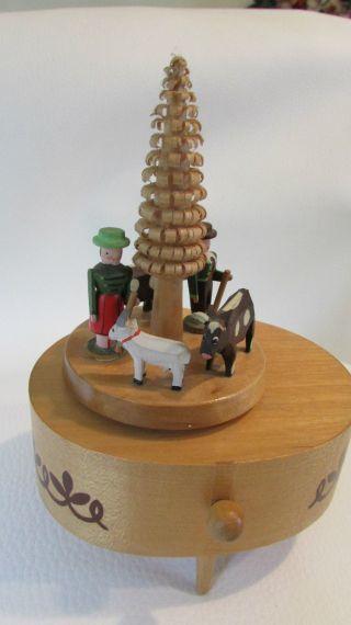 Spieldose Spieluhr Reuge Erzgebirge Der Fröhliche Wanderer Holz Figuren 50/60er Bild