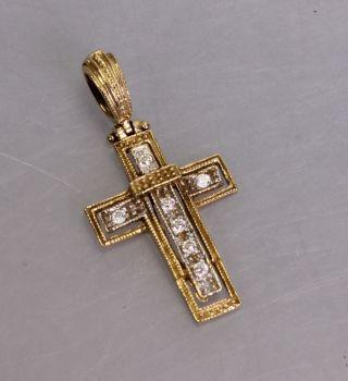 Jugendstil Kreuz Mit Zirkonen,  585 Gold (2936) Bild