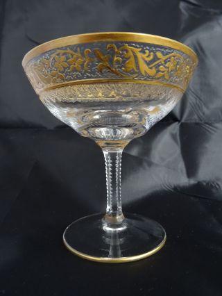 Likörglas / Likörschale Kristallglas Mit Floralem Ätzfries - Dekor,  Goldrand Bild