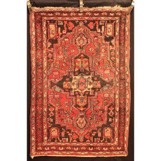 Antik Alt Handgeknüpfter Orient Teppich Bid Jahaa Carpet Tappeto Tapi 105x160cm Bild