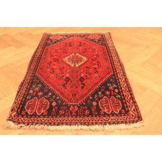 Alt Handgeknüpfter Orient Teppich Zenneh Kurde Old Rug Carpet Tappeto 60x110cm Bild