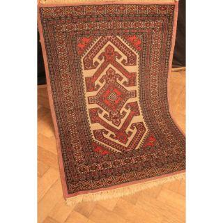 Alter Feiner Handgeknüpfter Orient Buchara Jomut Teppich Old Rug Carpet 130x80cm Bild