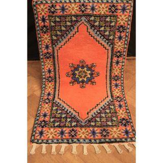 Wunderschöner Handgeknüpfter Orient Teppich Berber Kum Old Rug Carpet 80x140cm Bild