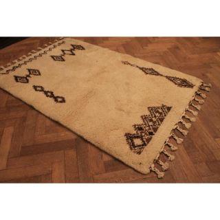 Wunderschön Handgeknüpfter Orient Teppich Atlas Berber Old Rug Carpet 190x130cm Bild