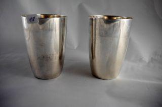 2 Versilberte Becher,  Silberbecher Bild
