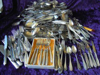 Besteck Silberbesteck,  Silberschrott 90er,  800er,  Versilbertes,  Silber 15 Kg Wmf Bild