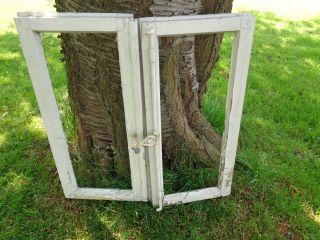 2 Alte Flügelfenster Fenster Holz Sprossenfenster Antik Deko L1 Bild