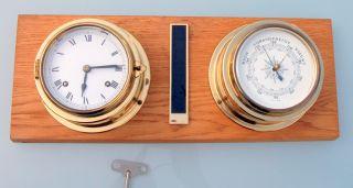 1 Schiffsuhr Glasenuhr Uhr Marine Franz Hermle Uhrwerk Und Schiffsbarometer Bild