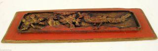 Antikes Chinesisches Relief,  Um 1880,  Aus Holz,  Dreidimensional Geschnitzt Bild