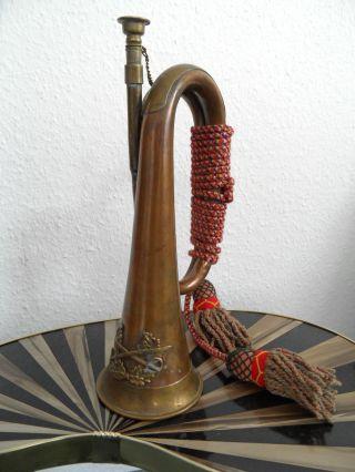 Orig Signalhorn Kavallerie Trompete Wki Oder Früher Gut Erh.  M.  Portepee Ca.  1910 Bild