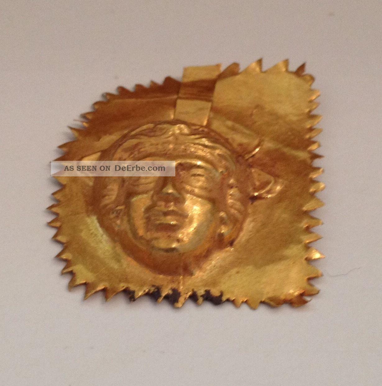 Makedonisch - Griechische Goldmaske,  Goldblech,  Matrize,  Abdruck,  Echtgold Antike Bild