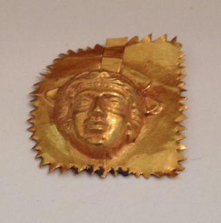 Makedonisch - Griechische Goldmaske,  Goldblech,  Matrize,  Abdruck,  Echtgold Bild