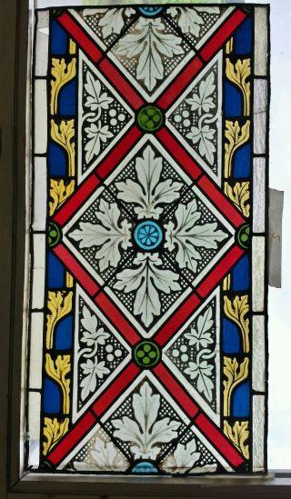 Altes Historisches Kirchenfenster,  Gläser In Bleifassung,  Bleiglas,  Ca 1870 Bild