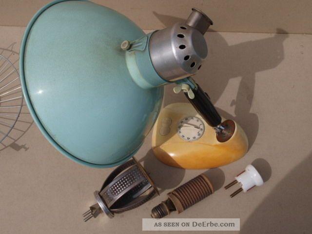 Antik 1960er Minfra Höhensonne Uv Lampe Tiefenstrahler Tischgrill Antike Bild