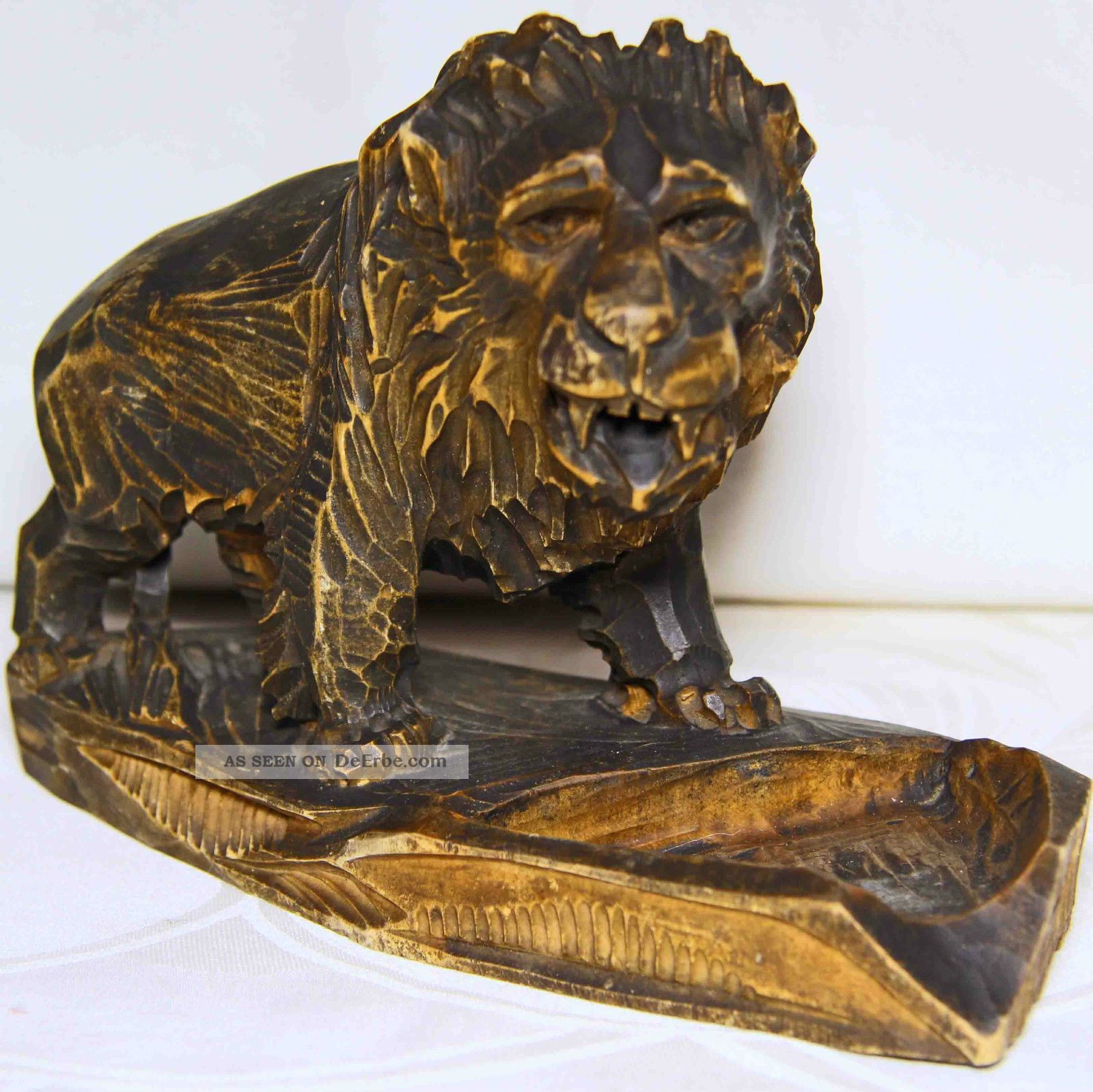 Seltene,  Antike Löwenfigur Antike Bild