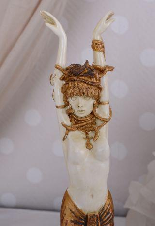 Jugendstil Figur Medusa Schlangen TÄnzerin Gorgone Figur Antike Bild