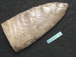 4400j.  A: Meisterlich Speerspitze Dolch 55mm Steinzeit Neolithikum Feuerstein Bild