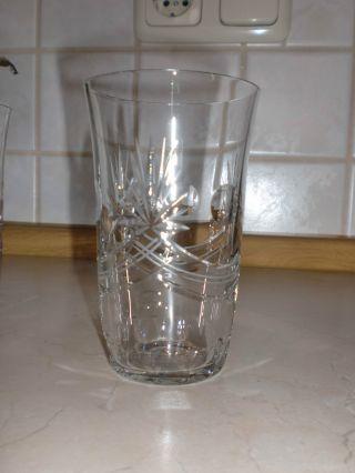 Nachtmann ? Trinkglas,  Handgeschliffen,  Bleikristall Höhe 11cm Selten.  8 Stück Bild