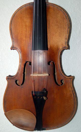 4/4 Violine,  Geige,  über 100 Jahre Alt Spielfertig Bild