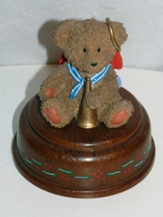 Spieluhr Teddybär Mit Tute Bär Mech.  Spieluhr Spieldose Musikbox Around 12x10cm Bild