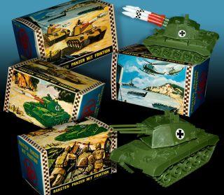 Raketen Werfer Ww2 Panzer Ovp Hong Kong 70er Tank Boxed 70s Bild