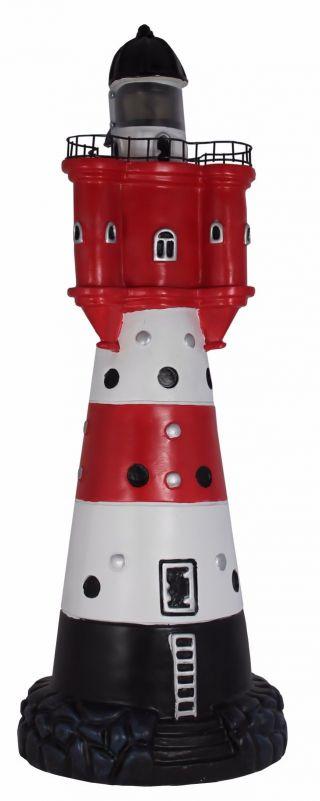 Leuchtturm 50 Cm Roter Sand Solar Für Den Garten Mit Licht,  Dekoration Bild