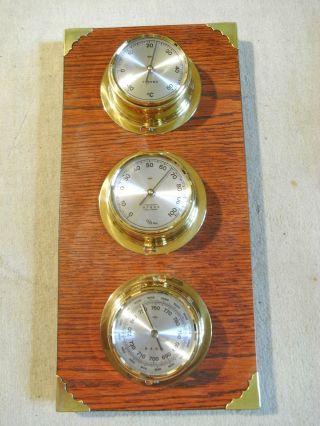 Sundo - Qualitäts - Wetterstation,  Haus / Boot,  Messing,  3 Instrumente Bild