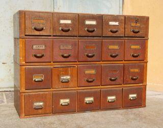 Alter Schubladenschrank Karteischrank Art Deco Schrank Loft Industrie Bauhaus Bild