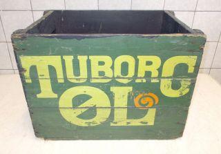 Alte Tuborg Bierkiste Aus Holz Schöne Patina Bild