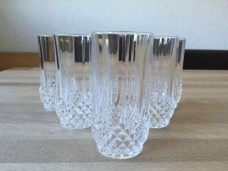 6 Wassergläser Bleikristall Cristal D ' Arques Longchamp Saft Glas Wasser Bild