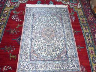 Seide Kaschmir Echte Handgeknupfte Teppich Top/ware Persien Bild