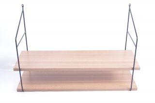 Altes String Wandregal 60er 70er Jahre Regal Ablage Garderobe Holz Bild