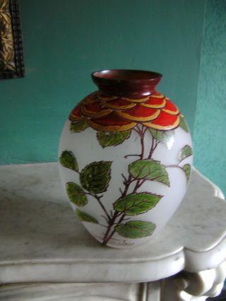 Gebauchte Jugendstil Vase Frankreich Signiert Jem Joseph Mure Paris Bild
