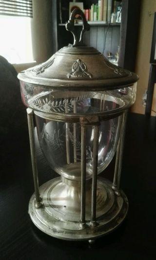 Bowle Antik Jugendstil 1910 Glas Pokal GefÄß Bild