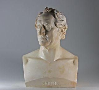 Goethe Büste C.  D.  Rauch Lebensgroß Stuck Gebrüder Micheli Berlin 1850 Bild