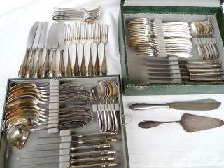 Wmf 2200 Serie Silberbesteck Versilbert 72 Teile Mit Wmf Besteck Kasten Bild