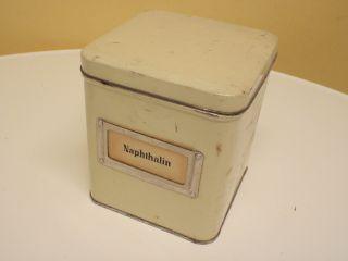 Naphthalin Alte Blechdose Apotheke Bild