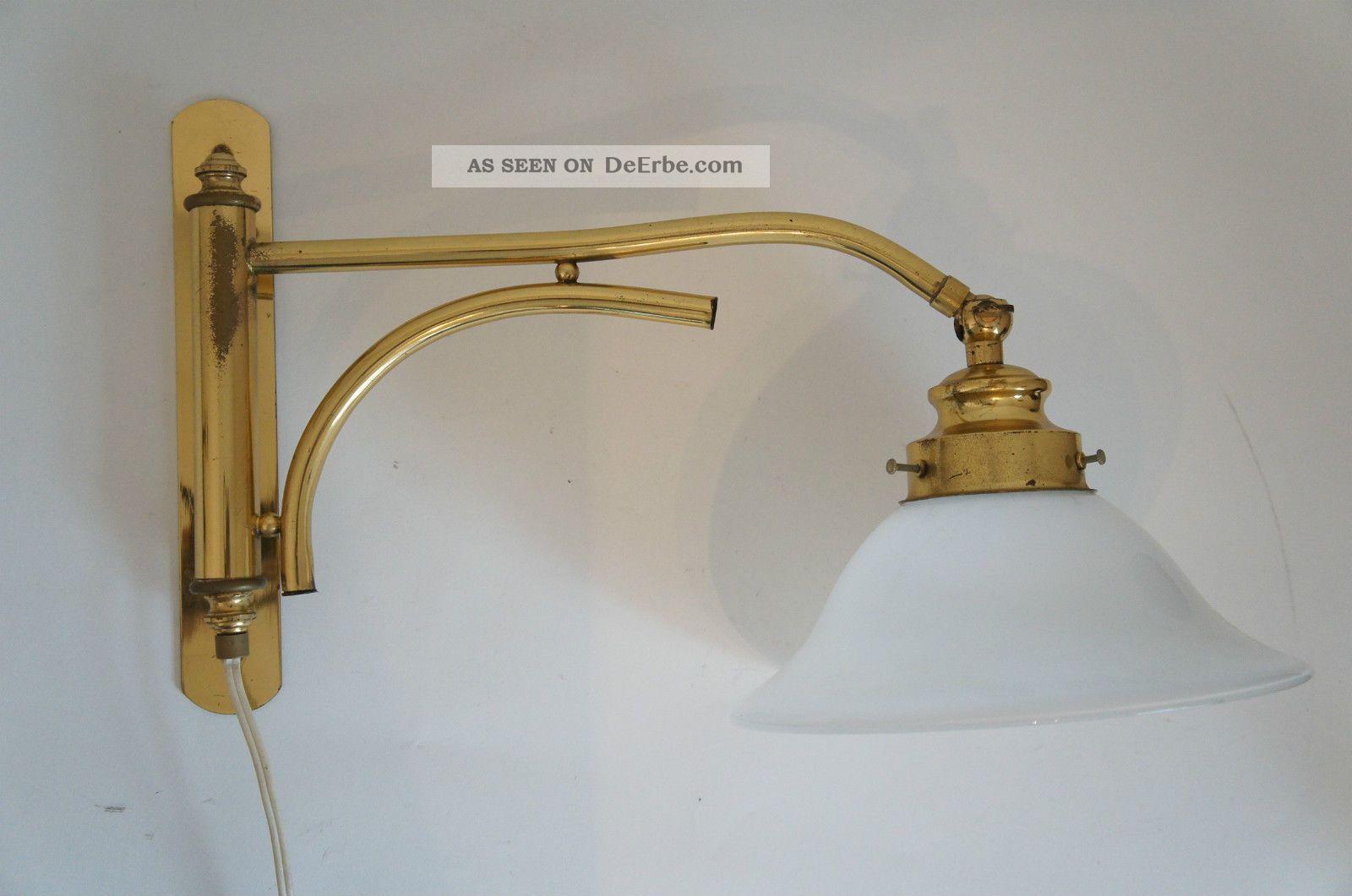 Knaller tolle wandlampe gelenklampe lampe glasschirm messing schwenkbar hammer - Wandlampe schwenkbar ...