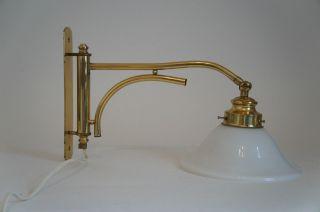 Knaller Tolle Wandlampe Gelenklampe Lampe Glasschirm Messing Schwenkbar Hammer Bild