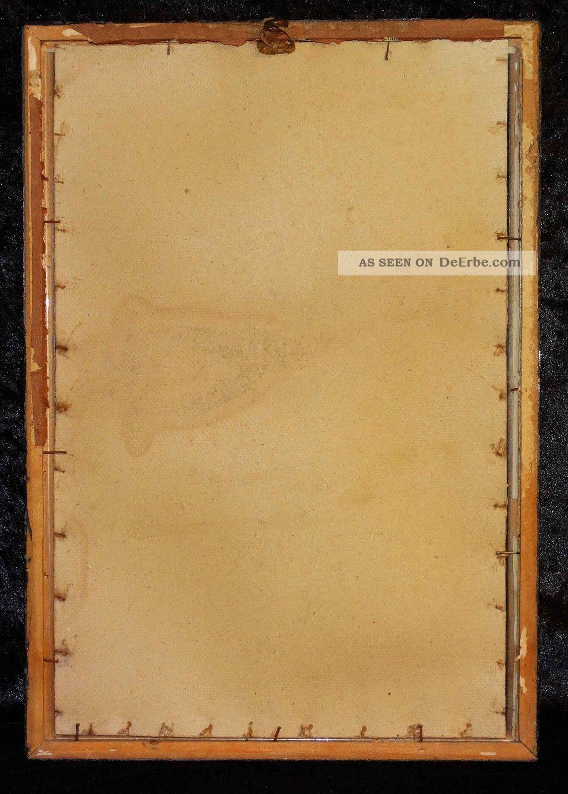 1880 Antiker Schellack Holzrahmen Mit Glas Waschgold  Rand