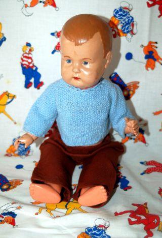 Alte Zelluloid Babypuppe - Puppe Mit Kurbelkopf - Paul Hunäus - Ph 32 Germany Bild