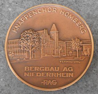 Bergbau Zeche Pütt Bergmann Bergleute,  Medaille Knappenchor Homberg 1882 / 1982 Bild