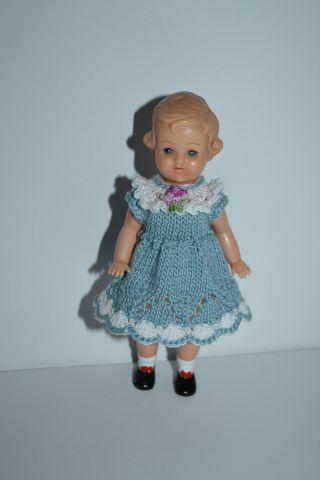 Herrliches Kleidchen Für Die Puppenstube/puppe13 - 14 Cm Bild