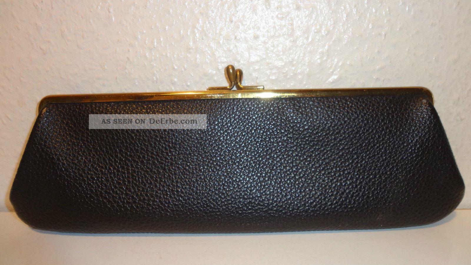 schwarze tasche clutch neuwertig 1950ger jahre. Black Bedroom Furniture Sets. Home Design Ideas