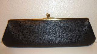Schwarze Tasche - Clutch - Neuwertig - 1950ger Jahre - - 33x 12cm Bild