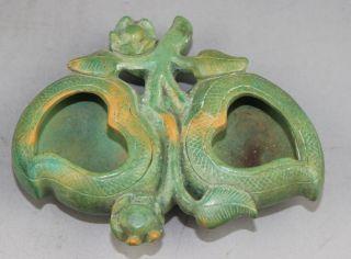 Chinese Stone Carved Brush Washer Bild