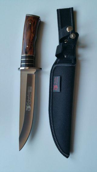 Jagd Messer,  Fischen,  Camping,  Outdoor,  Mit Tasche.  G32 Bild