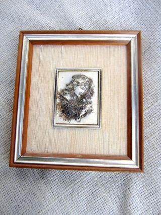 Bild,  Antikes Miniatur Aus Italien Mit Madonna Und Kind In 800 Silver Bild