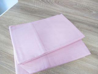 2 Aussteuer Betttücher Bettlaken Baumwolle Rosa 140 X 240 Cm,  Unbenutzt S30 Bild