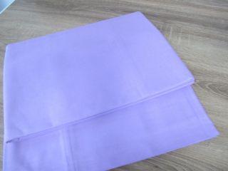 2 Aussteuer Betttücher Bettlaken Baumwolle Lila 140 X 240 Cm,  Unbenutzt S31 Bild